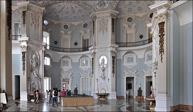 Une salle du palais d'isola Bella