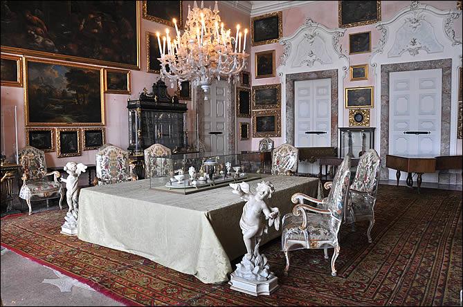 Un salon du palais d'isola Bella